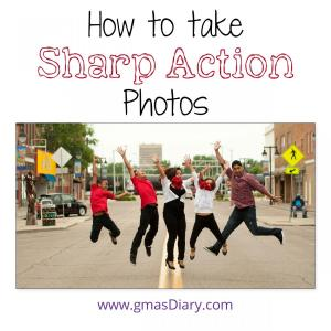 how to take sharp action photos
